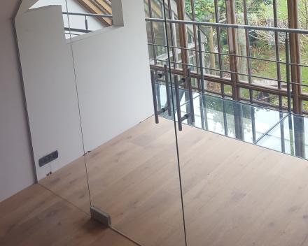 Glazen deuren - wandenDubbele glazendeur & vast zijlicht